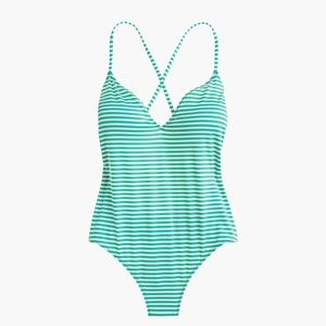 J.CREW PLAYA X-BACK ONE-PIECE SWIMSUIT
